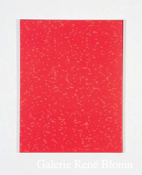 Francine Savard, Tableau déterminé D = 10 % 2007 Acrylique sur toile marouflée sur contreplaqué russe 78,5 x 60,5 cm, Vue de l'exposition, 2 x 100% (2007)