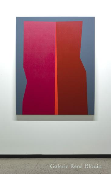 Daniel Langevin, TENANT III, 2011 huile et acrylique sur toile 152,4 x 122 cm / 60 x 48 pouces, 25 ans : Exposition de groupe, Vue de l'exposition (2011) Photo: Richard-Max Tremblay
