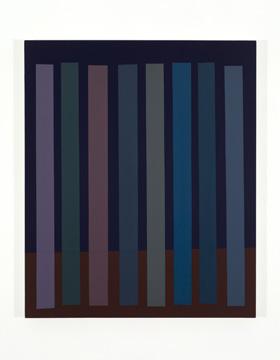 Platebande (III), 2010 acrylique et huile sur toile 91,5 x 76,2 cm / 36 x 30 pouces, Vue de l'exposition (2011), Daniel Langevin, Photos: Richard-Max Tremblay