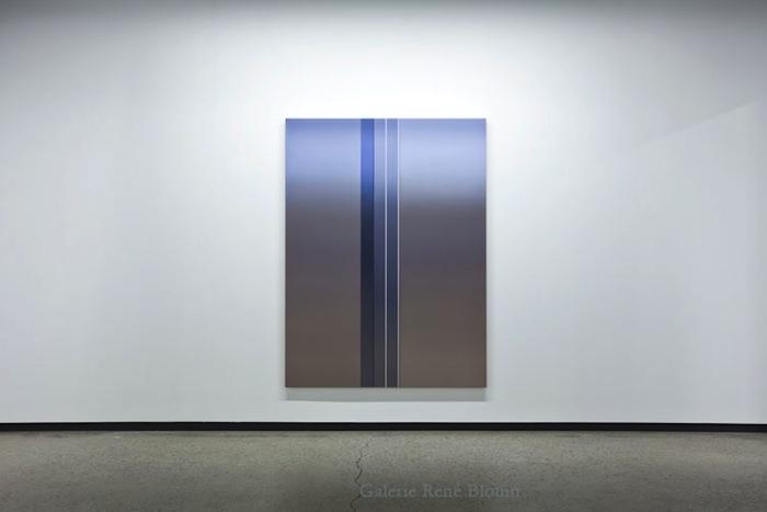 Gap III, 2012, huile sur toile de lin, 182,9 x 137 cm / 72 x 54 pouces, Vue de l'exposition: Pierre Dorion 10 novembre au 22 décembre 2012