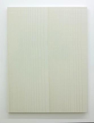 Tracé d'un clair-obscur_1, 2015, plâtre pigmenté monté sur panneau de bois, 152 x 144 cm / 59 x 56 pouces, Marie-Claire Blais, Vue de l'exposition (2015) Photo: Richard-Max Tremblay