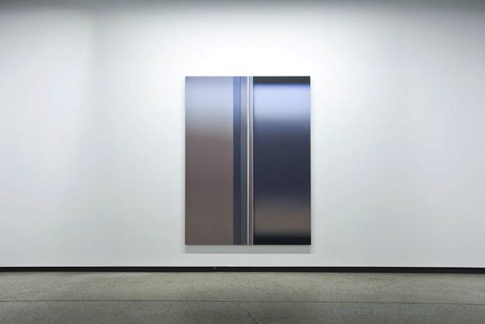 Gap II, 2012, huile sur toile de lin, 182,9 x 137 cm / 72 x 54 pouces, Vue de l'exposition: Pierre Dorion 10 novembre au 22 décembre 2012