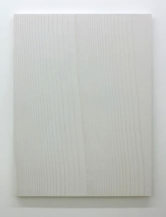 Tracé d'un clair-obscur_2, 2015, plâtre pigmenté monté sur panneau de bois, 152 x 144 cm / 59 x 56 pouces, Marie-Claire Blais, Vue de l'exposition (2015) Photo: Richard-Max Tremblay