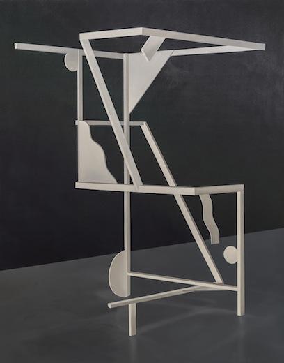 Performing multiple orientations, 2014 acrylique sur toile de coton, 210 x 166 cm / 82.6 x 65.3 pouces, Vue de l'exposition : Anthony Burnham15 novembre au 20 décembre 2014,Photo: Guy L'Heureux