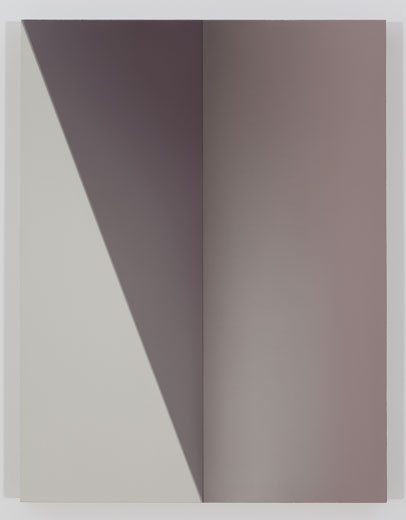 Corner, 2013, huile sur toile de lin, 83,8 x 63,7 cm / 33 x 25 pouces, Vue de l'exposition : Pierre Dorion, Salle 3 : 12 avril au 21 juin 2014