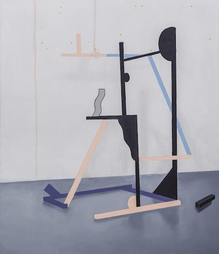 Animation, 2014 acrylique sur toile de coton, 119,3 x 102,8 cm / 47 x 40.5 pouces