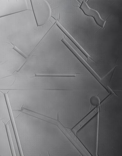 Mid-crop junction 023, 2014 acrylique sur toile de coton, 210 x 166 cm / 82.6 x 65.3 pouces