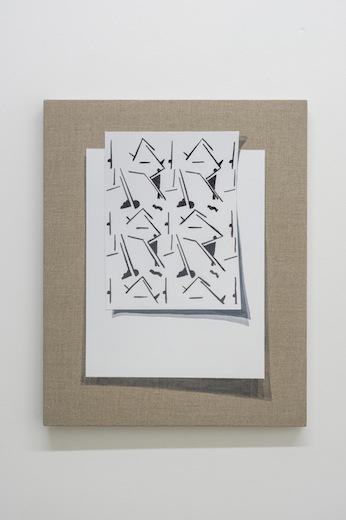 Séquences, 2014 acrylique sur toile de lin, 50,8 x 40,6 cm / 20 x 16 pouces, Vue de l'exposition : Anthony Burnham15 novembre au 20 décembre 2014,Photo: Guy L'Heureux