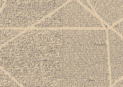 Simon Bertrand | Retranscription du Prophète (Détail) 2014-2015 Édition 2/5 Impression au jet d'encre sur papier Moab 300 grammes 24 x 18,5 pouces