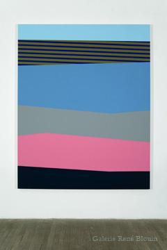Palissade (XII), 2010 acrylique et huile sur toile 190,5 x 152,4 cm / 75 x 60 pouces, Vue de l'exposition (2011), Daniel Langevin, Photos: Richard-Max Tremblay