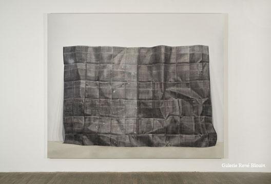 Photocopie, 2009 huile sur toile 200 x 244 cm / 78.7 x 96.1 pouces, Anthony Burnham, Vue de l'exposition (2010), Photo: Richard-Max Tremblay