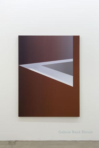 Well, 2014, huile sur toile de lin, 152,4 x 114,3 cm / 60 x 45 pouces, Vue de l'exposition : Pierre Dorion, Salle 3 : 12 avril au 21 juin 2014