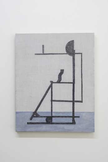 Equal measure, 2014 acrylique sur toile de lin, 50,8 x 40,6 cm / 20 x 16 pouces, Vue de l'exposition : Anthony Burnham15 novembre au 20 décembre 2014,Photo: Guy L'Heureux