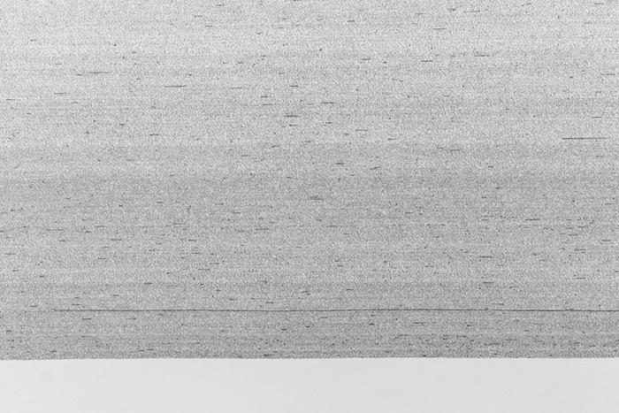 Retranscription de La Bible - Nouvelle traduction (détail), Vue de l'exposition : Simon Bertrand SALLE 3 27 septembre au 8 novembre 2014, Photo: Guy L'Heureux