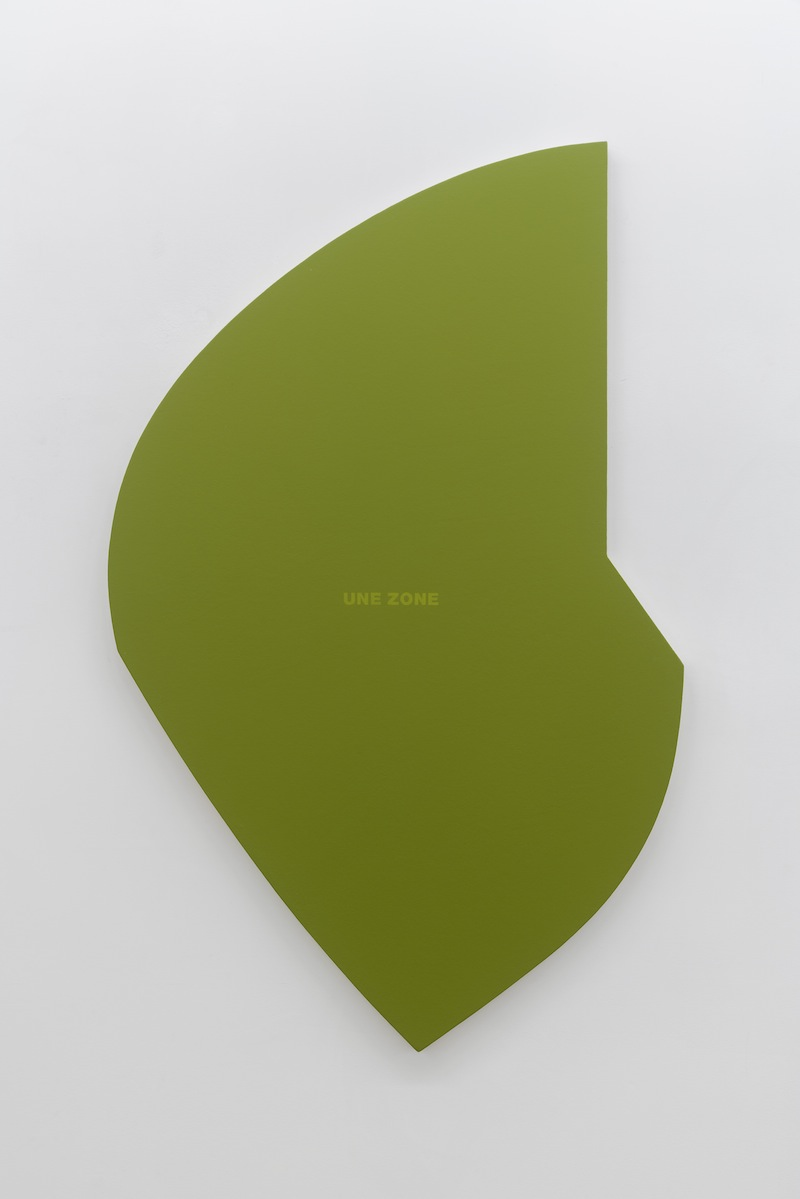Francine Savard, Une zone verte, 2002, Vue d'installation : Géométries (2016) Daniel Langevin   Pierre Dorion   Francine Savard Crédit photo : Guy L'Heureux