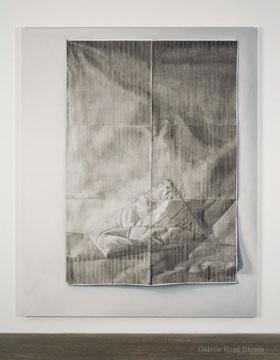 Trace, 2009 huile sur toile 244 x 200 cm / 96.1 x 78.7 pouces, Anthony Burnham, Vue de l'exposition (2010), Photo: Richard-Max Tremblay
