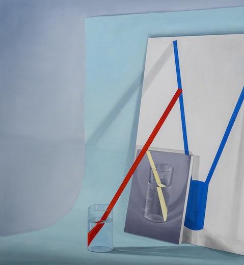 Framing potential, 2014 acrylique sur toile de lin, 154,9 x 142,2 cm / 61 x 56 pouces, Vue de l'exposition : Anthony Burnham15 novembre au 20 décembre 2014,Photo: Guy L'Heureux