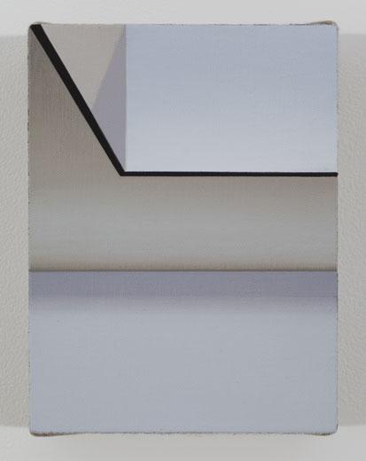 Atrium, 2013, huile sur toile de lin, 20 x 15,2 cm / 8 x 6 pouces, Vue de l'exposition : Pierre Dorion, Salle 3 : 12 avril au 21 juin 2014