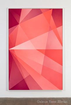 Densité neutre _ 2, 2010 peinture vinylique en aérosol sur carton archive 4 plis 232,7 x 156,5 cm / 91.6 x 61.6 pouces, Marie-Claire Blais, Vue de l'exposition (2010) Photo: Richard-Max Tremblay