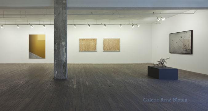 Vue de l'exposition (2011): Exposition de groupe ( Pierre Dorion, Anthony Burnham, Chris Kline, Marie-Claire Blais, Nicolas Baire ), Photos: Richard-Max Tremblay