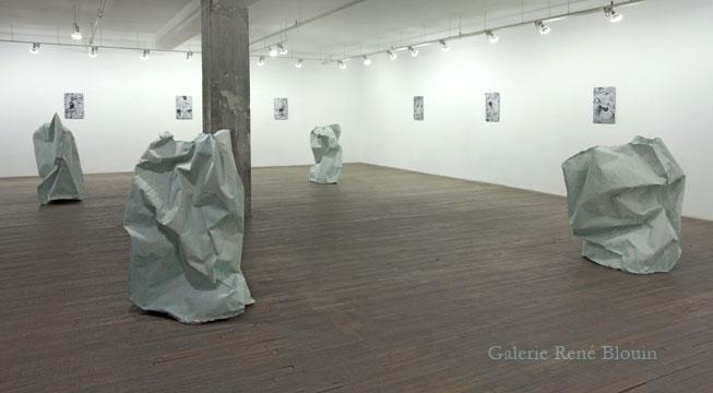 Vue de l'exposition (2010-2011) :  Pascal Grandmaison, Photo: Richard Max Tremblay