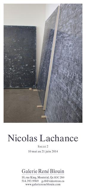 INVITATION : Vue de l'exposition: Nicolas Lachance, 10 mai au 21 juin 2014 (Salle 2,) Crédit Photo : Richard-Max Tremblay