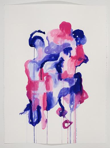 Serge Murphy |  Avec l'autre ? V, 2012, encre sur papier Arches, 77 x 55 cm (30 x 22 pouces), Vue de l'exposition: 24 juin au 24 août 2013, Photo: Guy l'Heureux