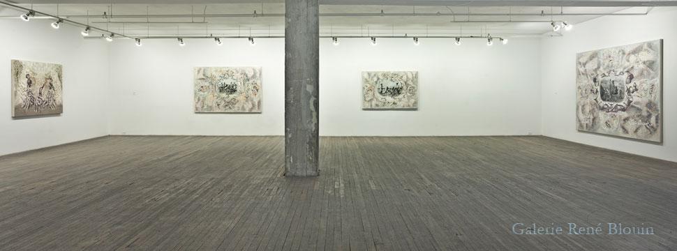 Carol Wainio, Vue de l'exposition (2011) Photo: Guy L'Heureux