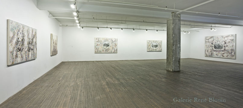 Carol Wainio, Vue d'installation 2011, Photo: Guy L'Heureux