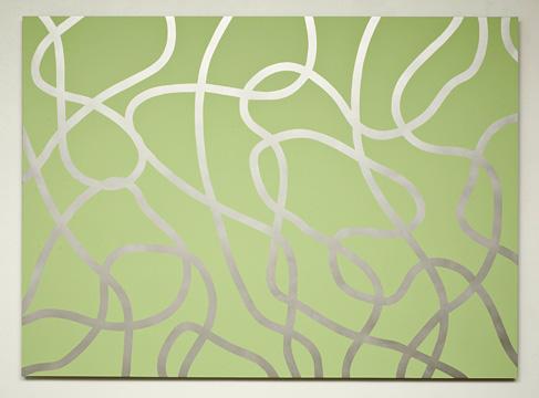 Daniel Langevin Réservoir (PM), 2009 acrylique sur aluminium 122 X 167,6 cm / 48 x 66 pouces, Daniel Langevin et Marie-Claire Blais, Vue de l'exposition (2009) Photo: Richard-Max Tremblay
