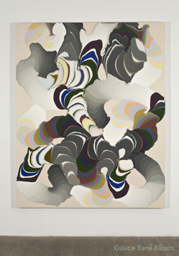 Grandes pulsions X, 2008 acrylique et encre sur toile 189,5 x 152,5 cm / 74.6 x 60 pouces, François Lacasse, Vue de l'exposition (2009)  Photo: Richard-Max Tremblay