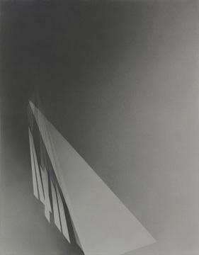 Marie-Claire Blais L'hiver vient de l'ouest _ vision 5, 2008 poudre de graphite sur carton archive 101,6 x 76,2 cm / 40 x 30 pouces, Vue de l'exposition (2009) Photo: Richard-Max Tremblay