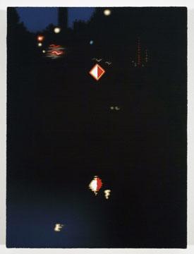 Pierre Dorion, Nocturne (Berlin), 2008 huile sur toile de lin 40,6 x 30,5 cm / 16 x 12 pouces, Pierre Dorion, Vue de l'exposition (2010) Photo: Richard-Max Tremblay