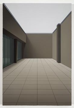 Sonnabend II, 2008 huile sur toile de lin 61 x 40,6 cm / 24 x 16 pouces, Pierre Dorion, Vue de l'exposition (2010) Photo: Richard-Max Tremblay