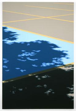 Pierre Dorion, Shadow (Lachute), 2007 huile sur toile de lin 61 x 40,6 cm / 24 x 16 pouces, Pierre Dorion, Vue de l'exposition (2010) Photo: Richard-Max Tremblay