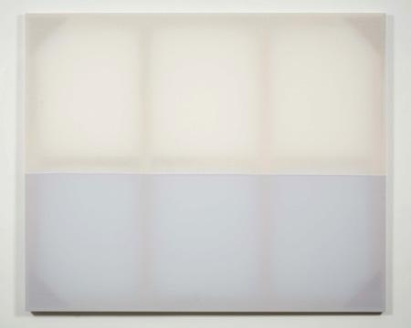 Chris Kline Raft, 2008 popeline, fil et bois 152,4 x 182,9 cm / 60 x 72 pouces, Peinture Extrême Painting, Vue de l'exposition (2010) Photo: Richard-Max Tremblay