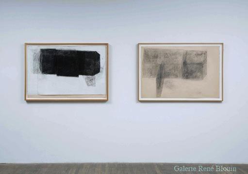 Study For Mentana (1977) Mine de plomb et fusain sur papier 50 x 65,2 cm / 19,7 x 25,7 pouces, Betty Goodwin, Vue de l'exposition (2008)  Photo: Richard-Max Tremblay