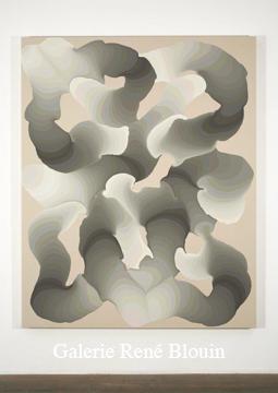 Grandes pulsions VI, 2007 acrylique et encre sur toile 189,5 x 152,5 cm / 74.6 x 60 pouces, François Lacasse, Vue de l'exposition (2008) Photo: Richard-Max Tremblay