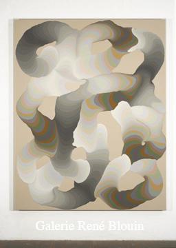 Grandes pulsions VII, 2007 acrylique et encre sur toile 189,5 x 152,5 cm / 74.6 x 60 pouces, François Lacasse, Vue de l'exposition (2008) Photo: Richard-Max Tremblay
