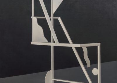 Anthony Burnham, Performing multiple orientations, 2014, acrylique sur toile de coton, 210 x 166 cm / 82.6 x 65.3 pouces