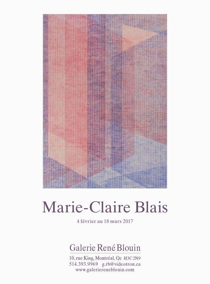 Marie-Claire Blais INVITATION Exposition 2017