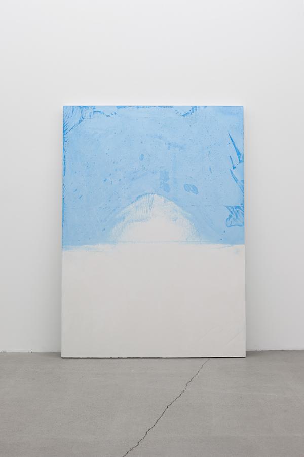 Pascal Grandmaison, La limite de l'écho 03, 2013, plâtre hydrostone, pigments aqueux, 69 x 50 x 2 pouces