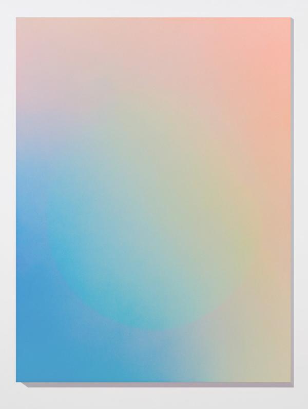 Marie-Claire Blais, Brûler les yeux fermés 5, 2012, peinture acrylique en aérosol sur toile, 152 x 143 cm. Photo : Marie-Claire Blais
