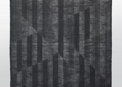 Marie-Claire Blais, Entrevoir le jour_horizon, 2014, toile de jute teinte, 229 x 298 cm. Photo : Marie-Claire Blais