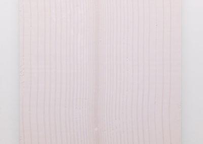 Marie-Claire Blais, Tracé d'un clair obscur, 2015, plâtre pigmenté monté sur panneau de bois, 152 x 144 cm. Photo : Marie-Claire Blais