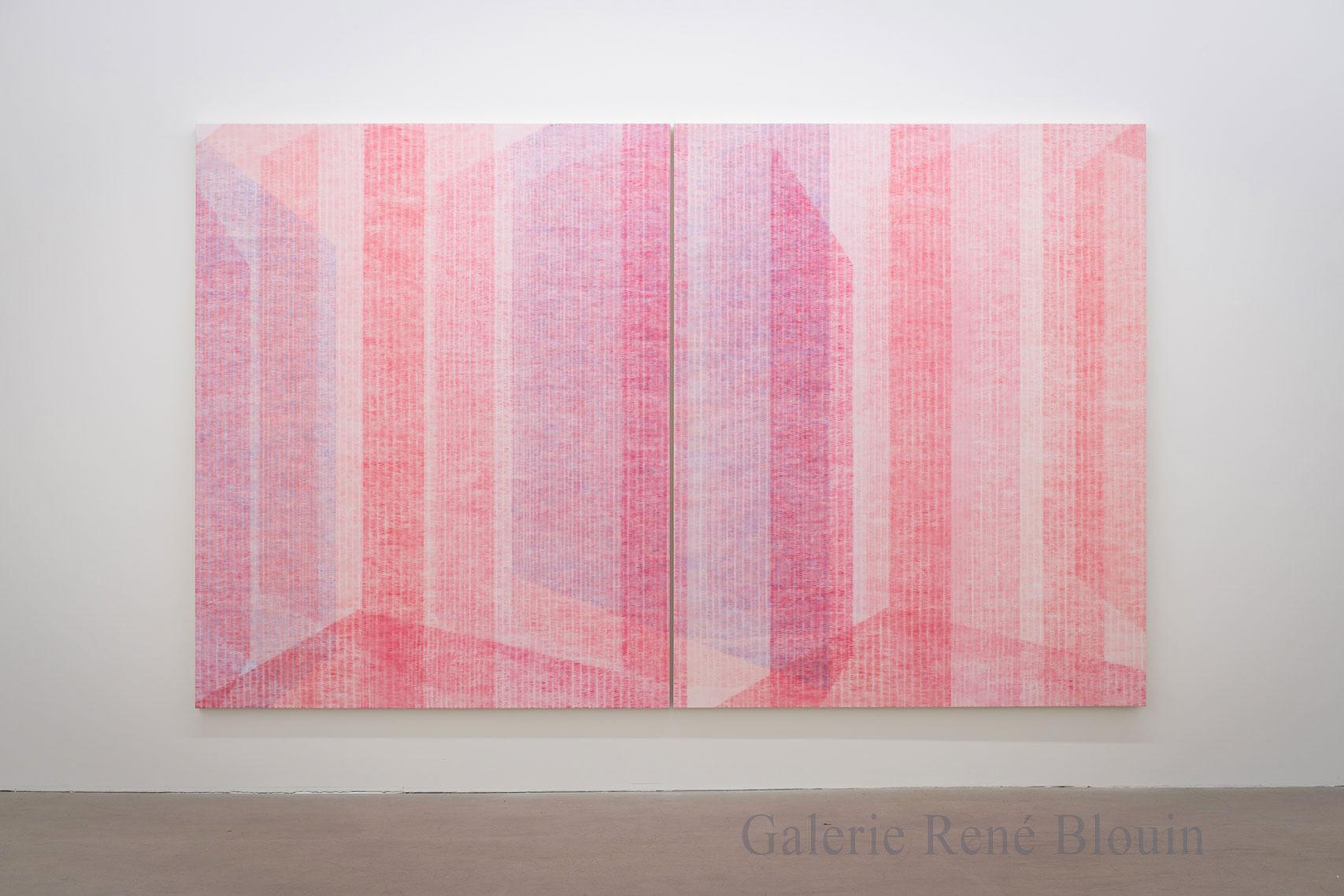 Marie-Claire Blais, Être la porte qui s'ouvre 11, 2017, acrylique sur toile, 203 x 330 cm / 80 x 130 pouces. Photo : Marie-Claire Blais