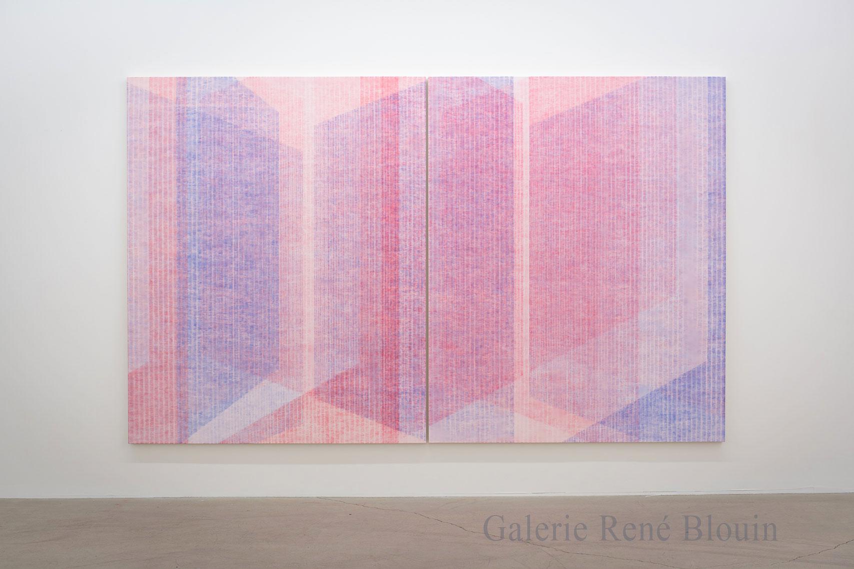 Marie-Claire Blais, Être la porte qui s'ouvre 12, 2017, acrylique sur toile, 203 x 330 cm / 80 x 130 pouces. Photo : Marie-Claire Blais