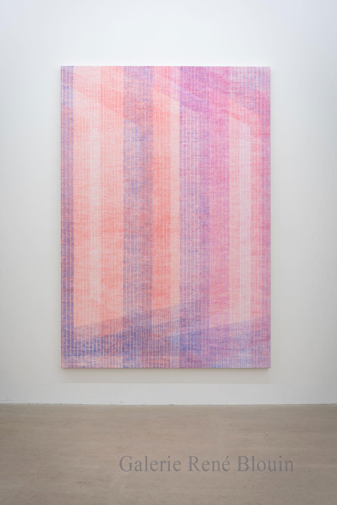 Marie-Claire Blais, Être la porte qui s'ouvre 2, 2016, acrylique sur toile, 221 x 152 cm /87 x 60 pouces. Photo : Marie-Claire Blais