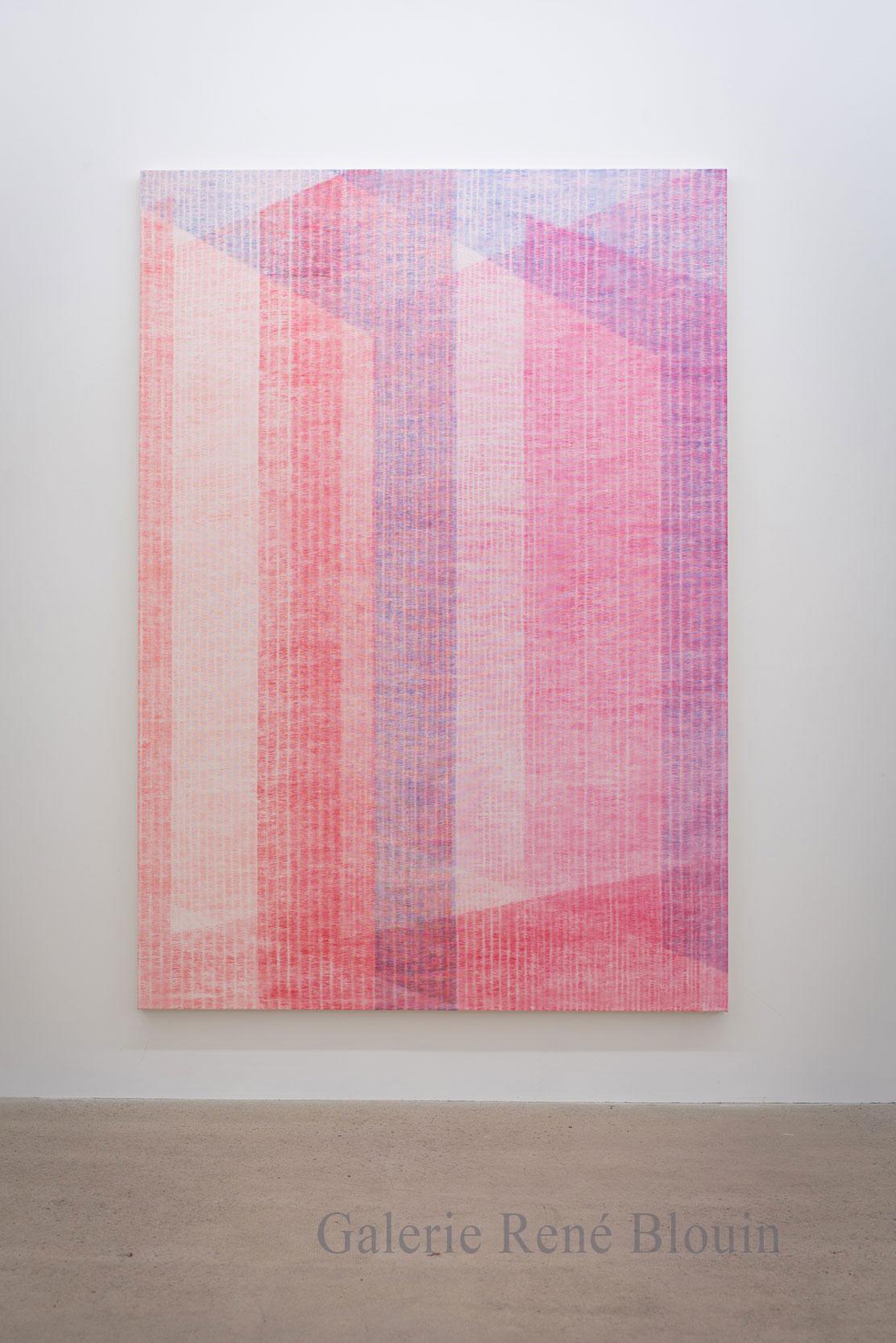 Marie-Claire Blais, Être la porte qui s'ouvre 3, 2016, acrylique sur toile, 221 x 152 cm /87 x 60 pouces. Photo : Marie-Claire Blais