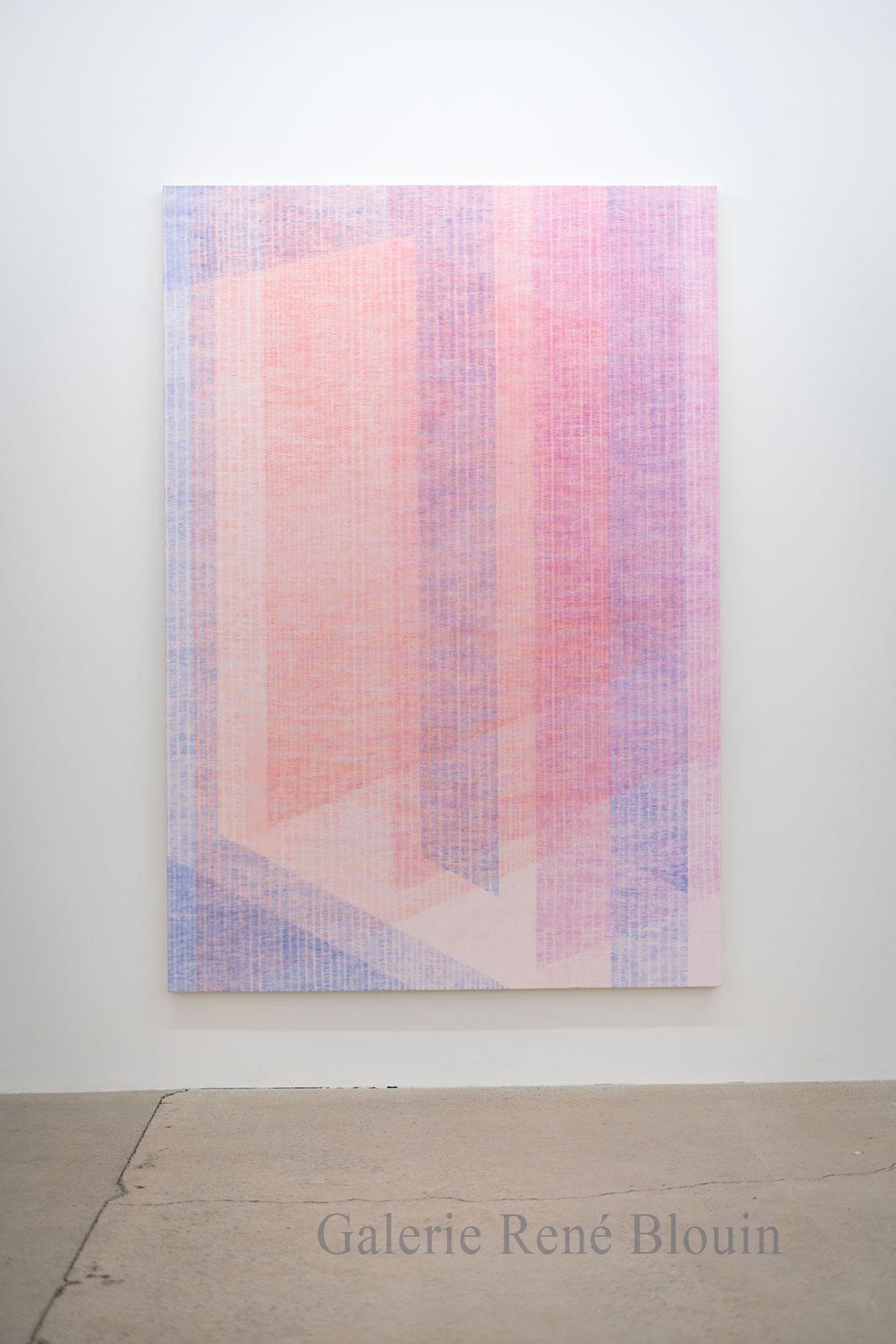 Marie-Claire Blais, Être la porte qui s'ouvre 4, 2016, acrylique sur toile, 221 x 152 cm /87 x 60 pouces. Photo : Marie-Claire Blais